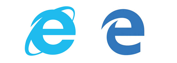 Microsoft browsers Old vs New. Explorer vs Edge.