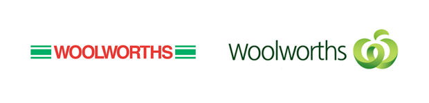 Woolworths rebrand: Before and After
