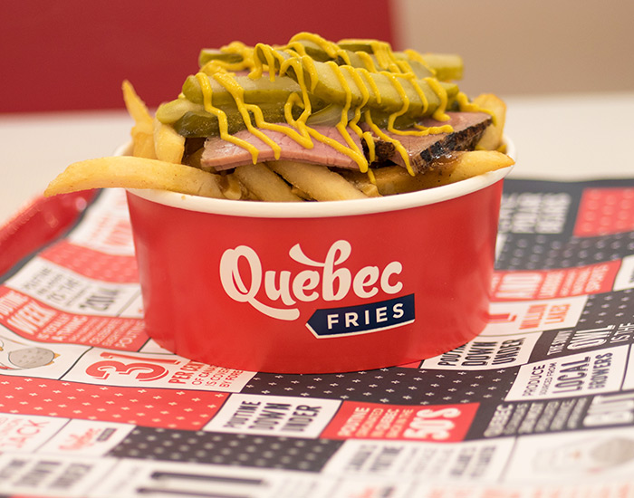 Quebec Fries Food Branding