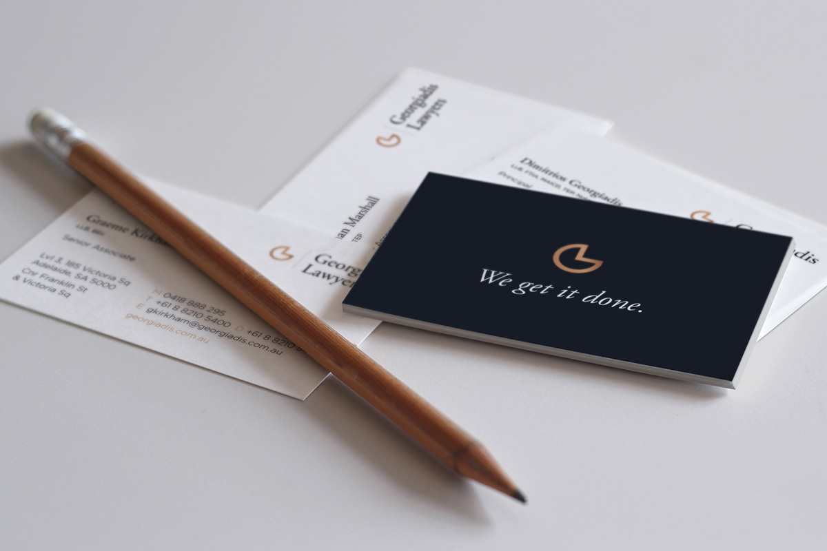Georgiadis Lawyers Business Cards