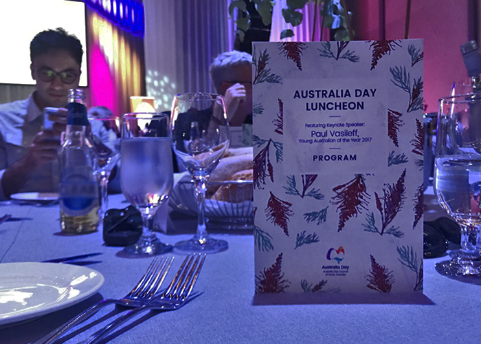 Australia Day Luncheon 2018 Menu